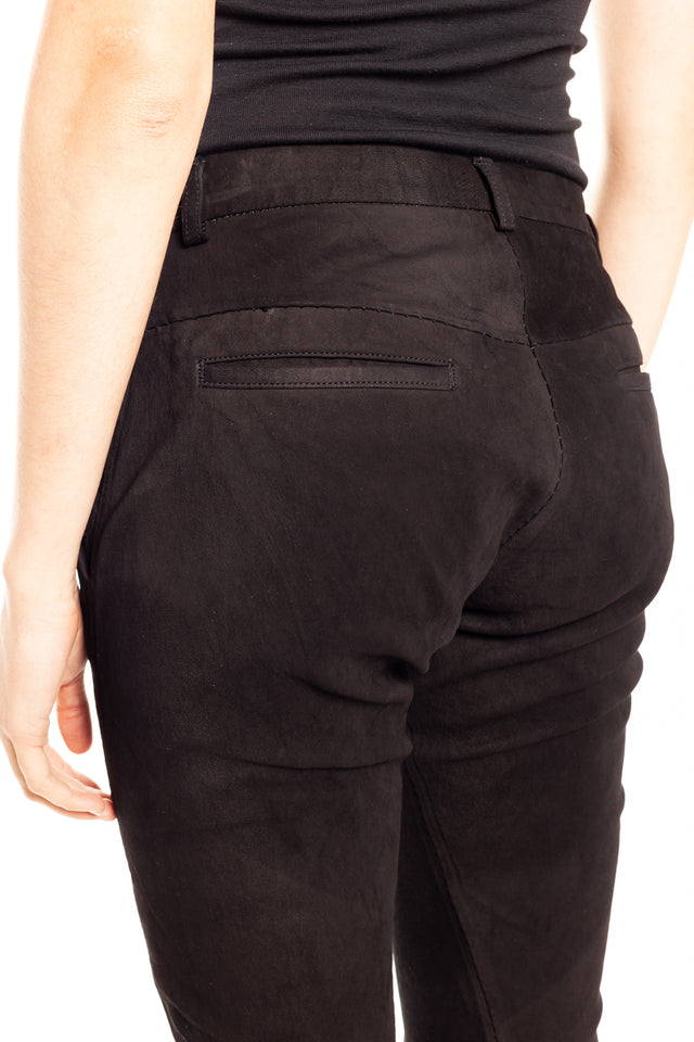 Isaac Sellam Callypige Stretch Leather Trousers in Black