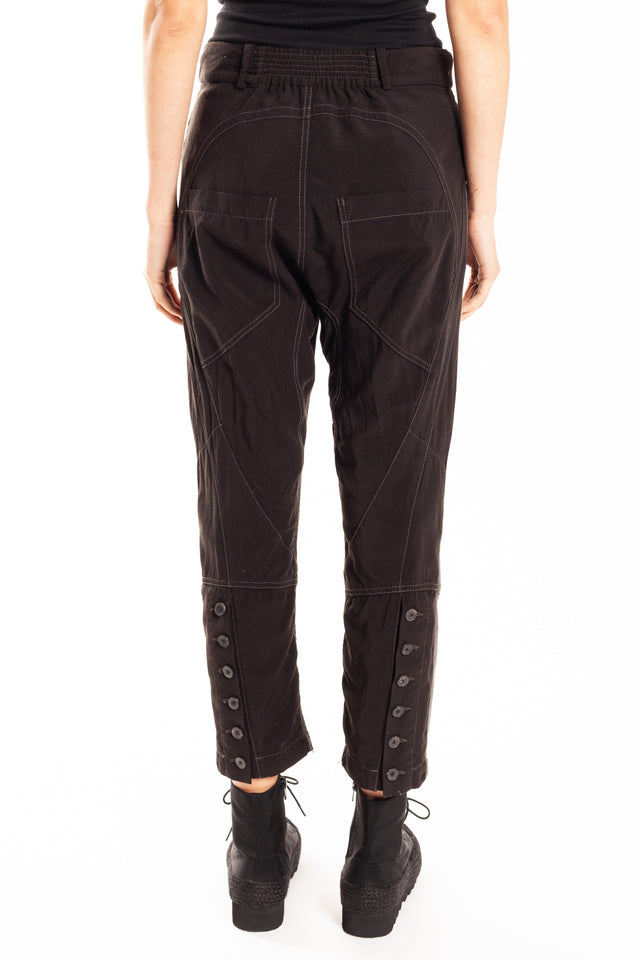 Haider Ackermann Contrast Trouser in Black Dye