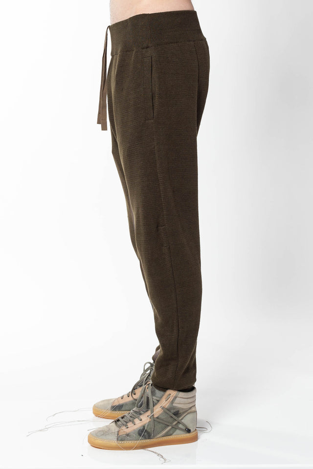 Haider Ackermann Knit Jogger in Khaki