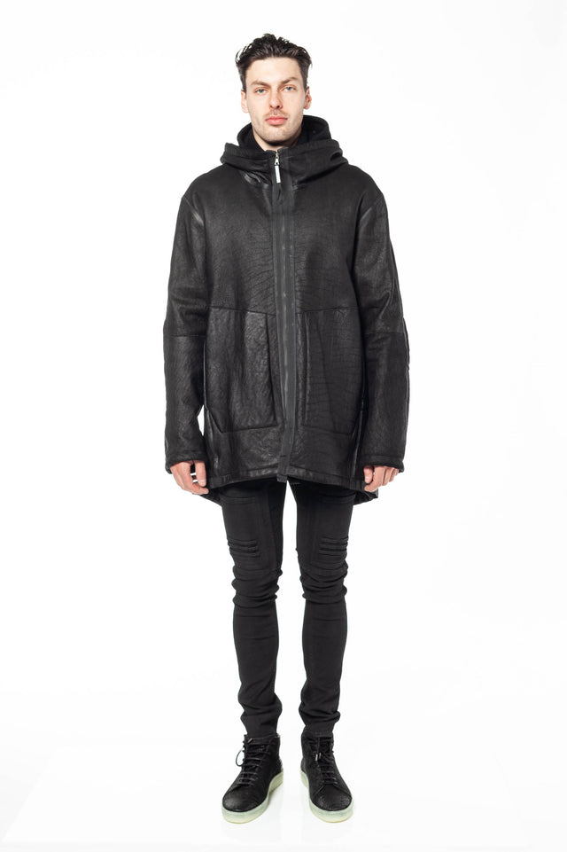 Isaac Sellam Ombrageux Leather Parka
