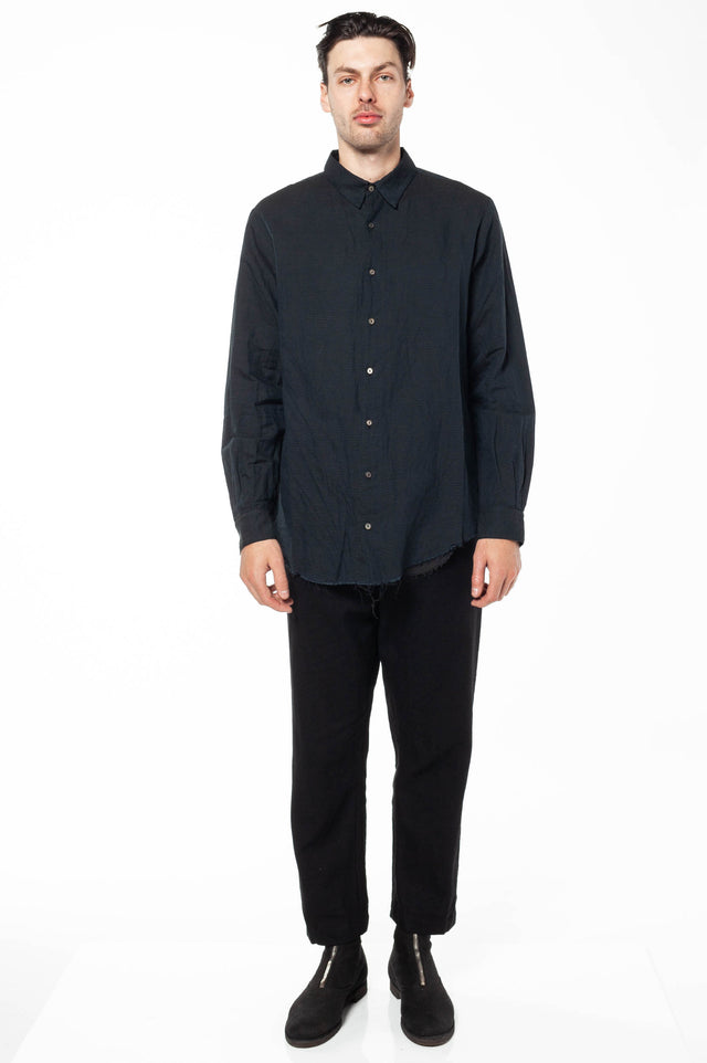 Forme D'Expression Layered Shirt In Off Black