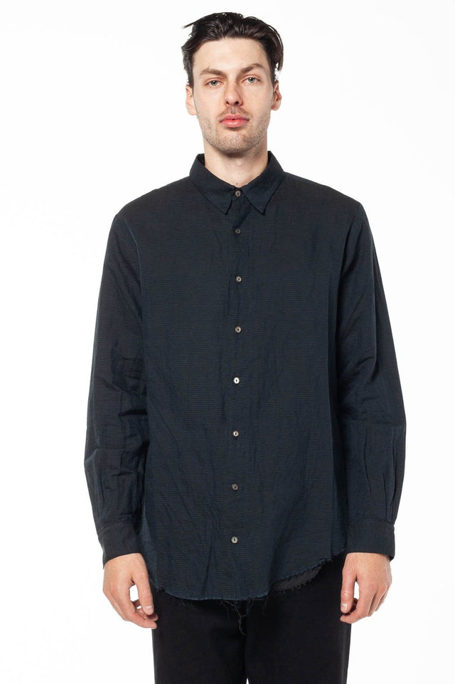 Layered Shirt In Off Black