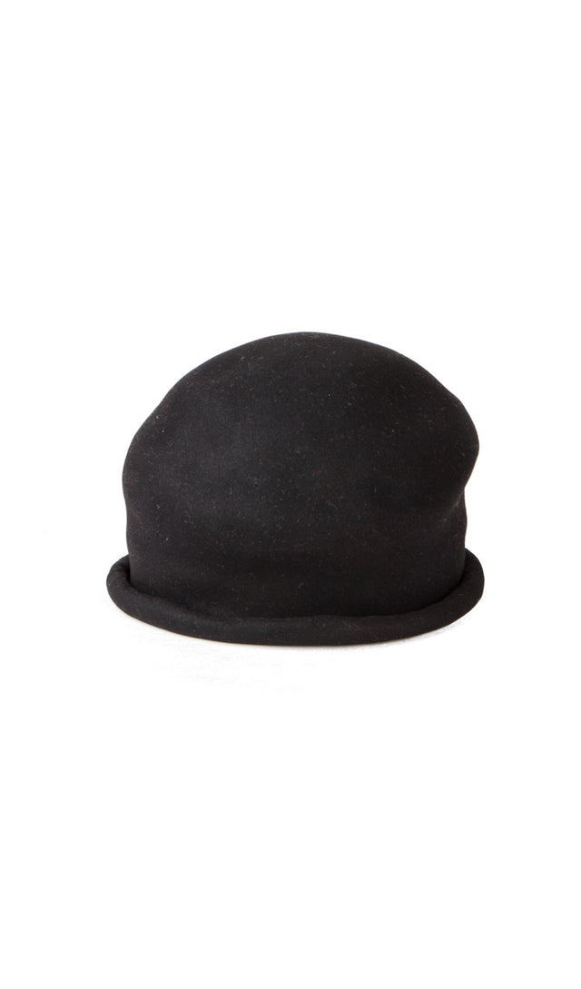 Rolled brim hat