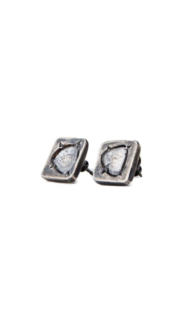 Chin Teo Omega Diamond Slice Earring