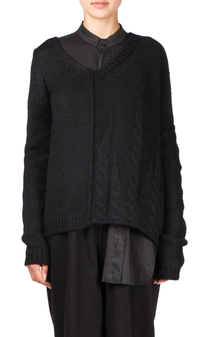 Side Cable Knit Sweater