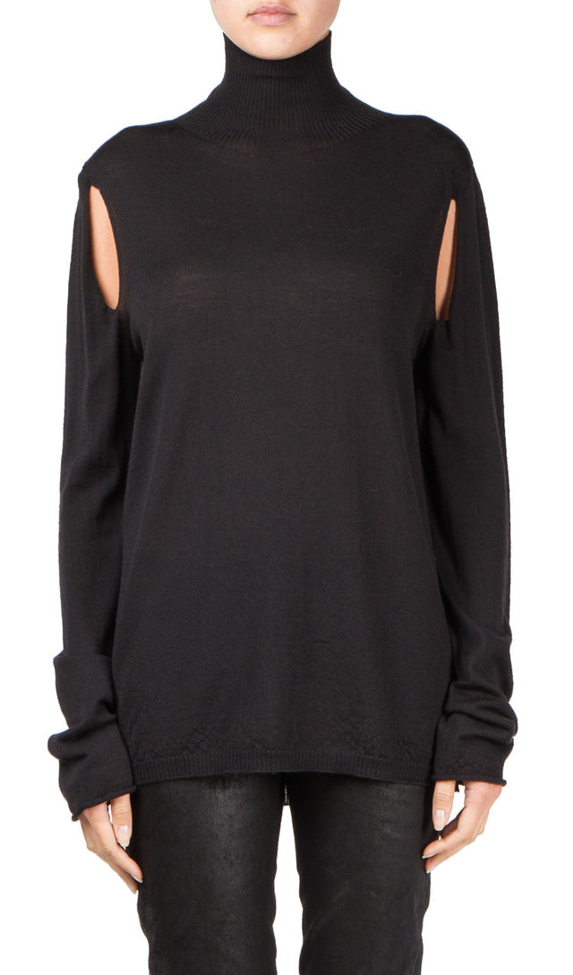 Rick Owens Cape Sleeve Turtleneck