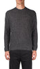 grey open mouline stitch crew neck