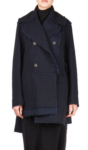 Asymmetric Caban Coat