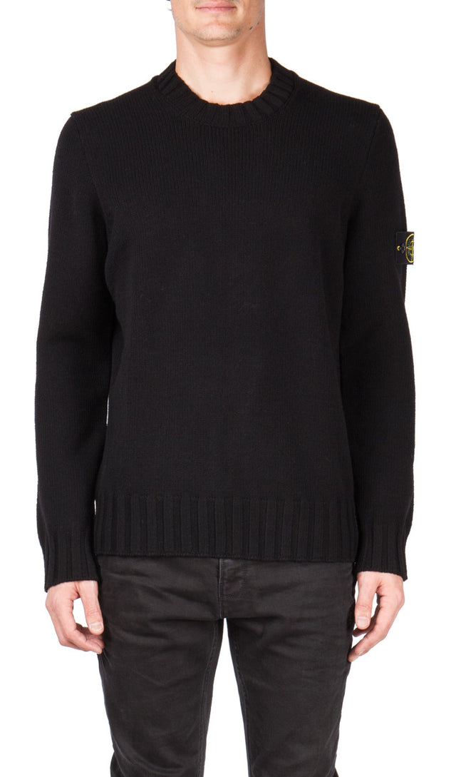 Stone Island Classic Knit Sweater In Black