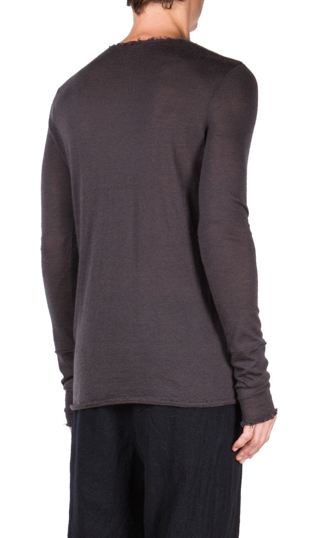 Ziggy Chen Frayed Edge Sweater
