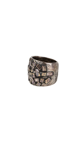 wide mosaic plate ring