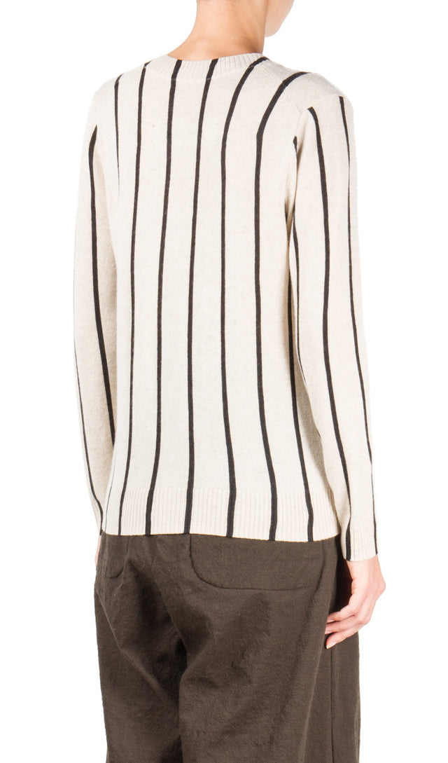 Black Striped Crewneck