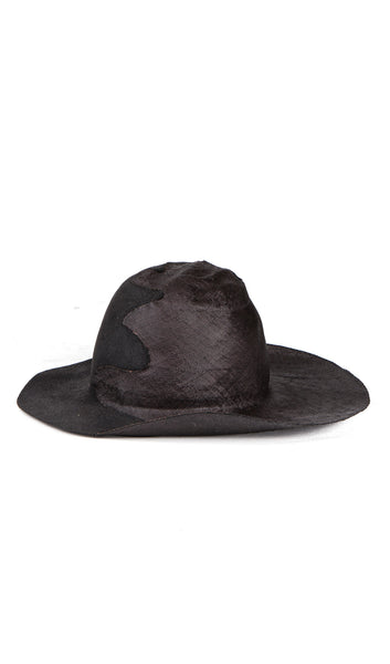 straw and felt combo hat