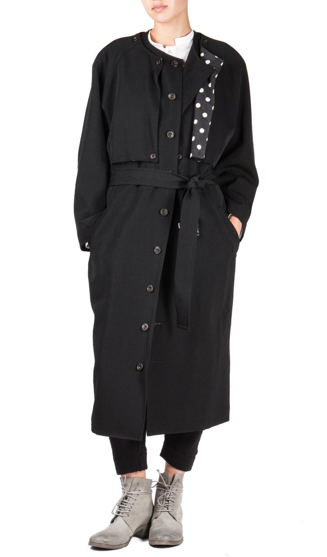 Detachable  Top Trench Coat