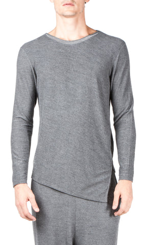 twisted long sleeve shirt