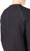 flat seam sweater in black