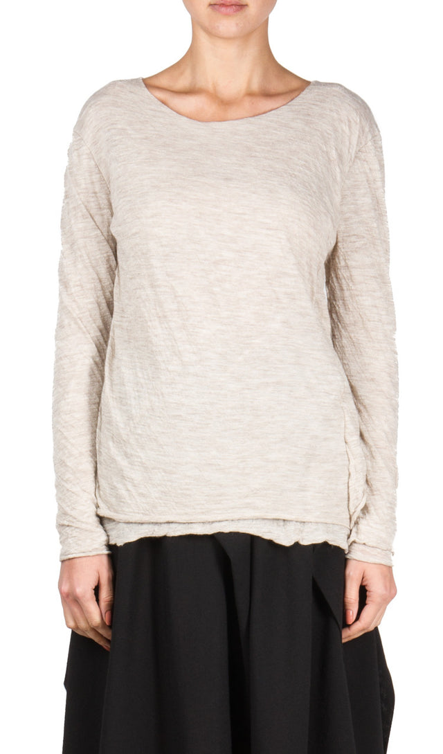 Forme d'expression Juxtaposed Pullover In Natural