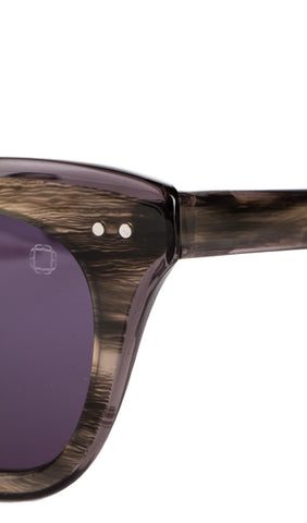 Gwynn Sunglasses in Grey Horn