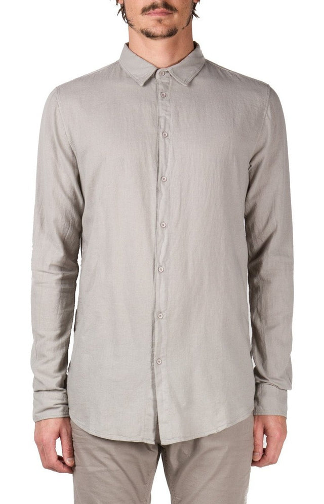 Central Seam Shirt in Light Grey