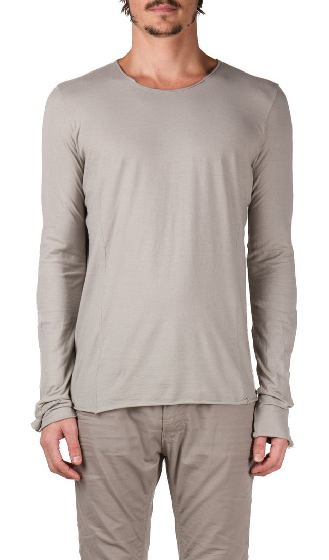 4 Panel T-shirt in Light Grey