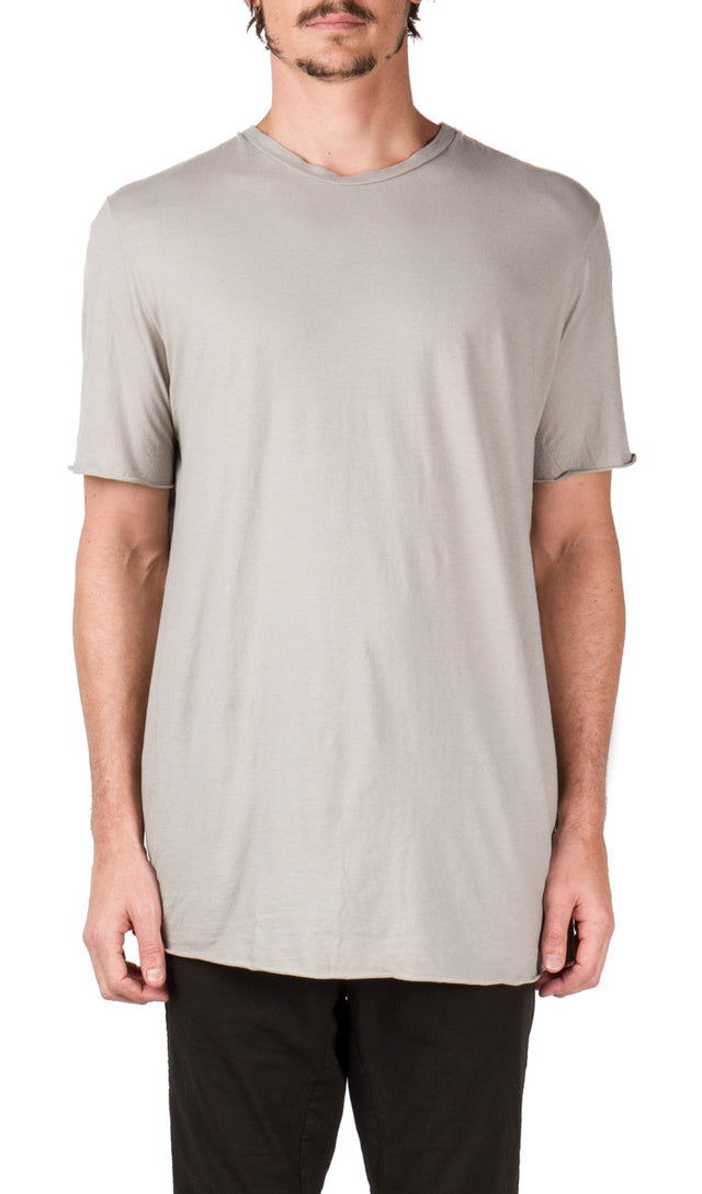 Poeme Bohemien Central Seam T-shirt In Light Grey