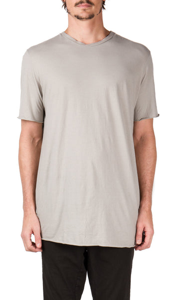 Central Seam T-shirt in Light Grey