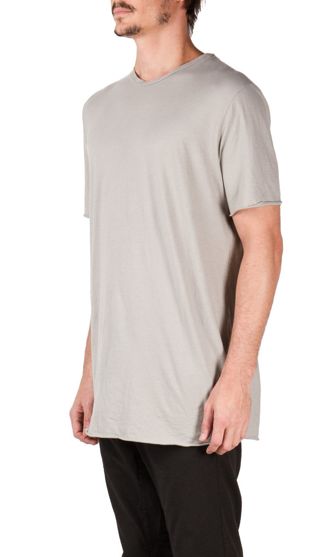 Poeme Bohemien Central Seam T-shirt In Grey