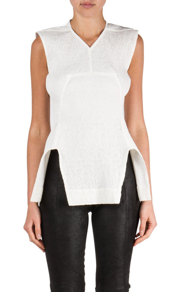 V Neck Calpurnia Top in Milk