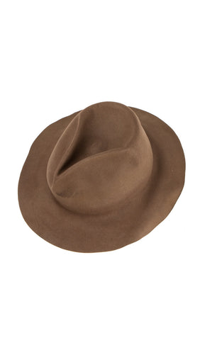 Easy Burnt High Fedora in Taupe