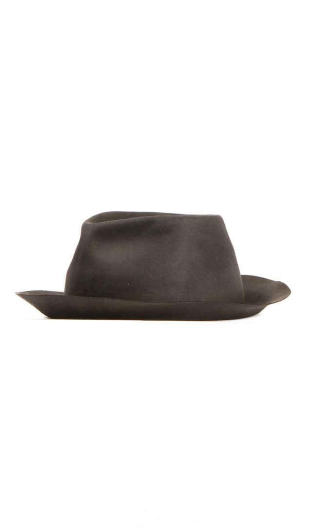 Horisaki Easy Burnt Beaver Fur Hat in Grey