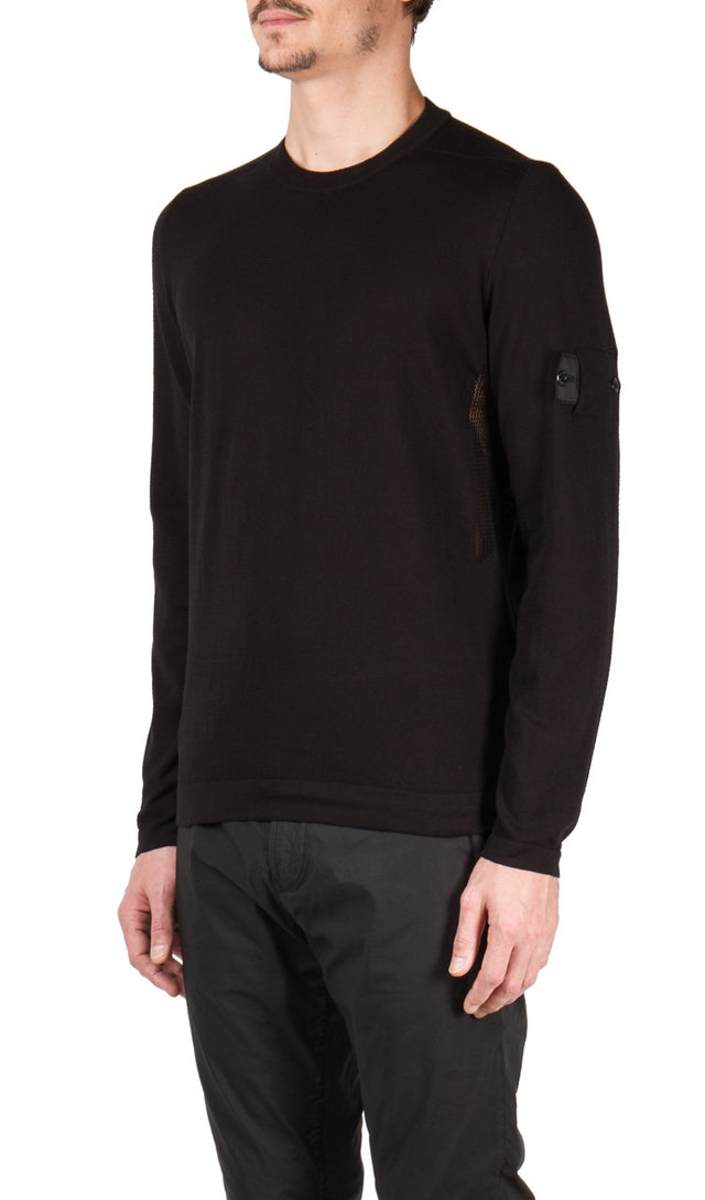 Crew Neck Knit in Black