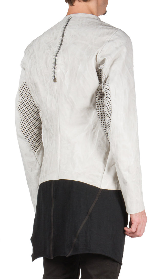 Sculptural Leather Jacket
