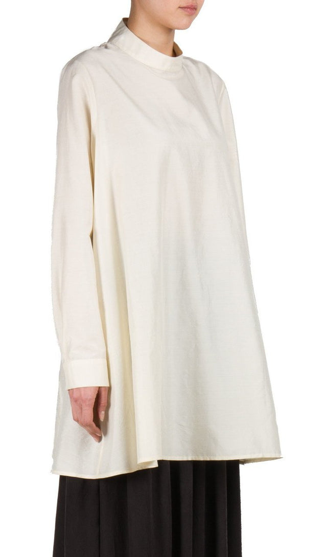 Backwards Tunic Dress in White