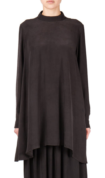 Backwards Tunic Dress in Black