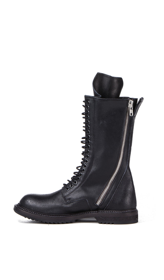 Rick Owens Zip Lace Up Boot