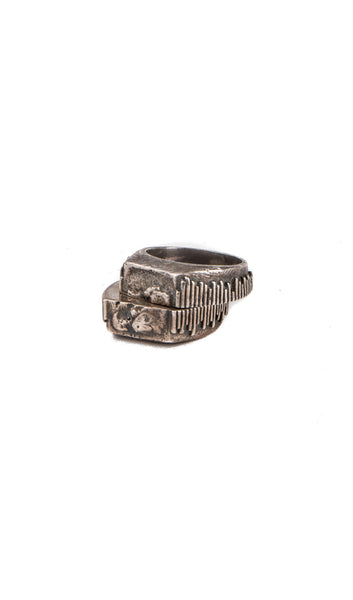 twin wood plate ring