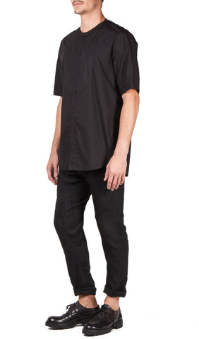 slant pocket trouser in black