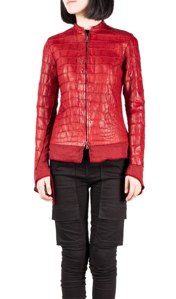 Affamee crocodile leather jacket