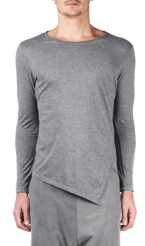twisted t-shirt in grey