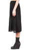 minimal midi skirt in black