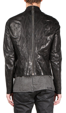 seamless leather jacket - restock