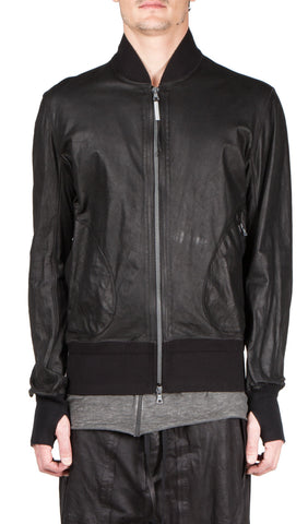 refleschissant leather bomber