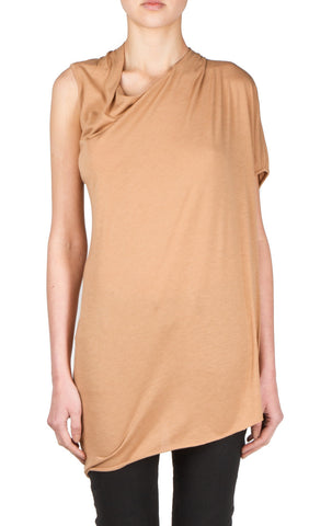 twist drape top in rose