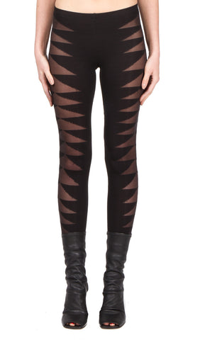 patterned weave legging