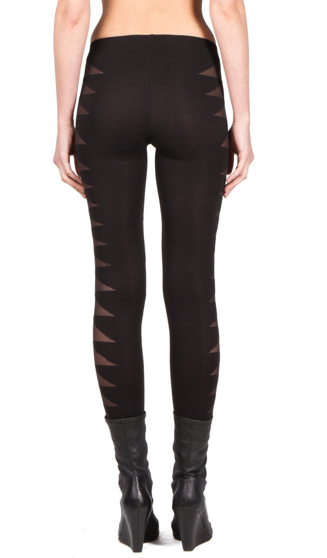 Rick Owens Lilies Patterned Weave Legging