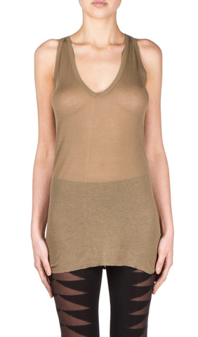 v neck tank in dna dust