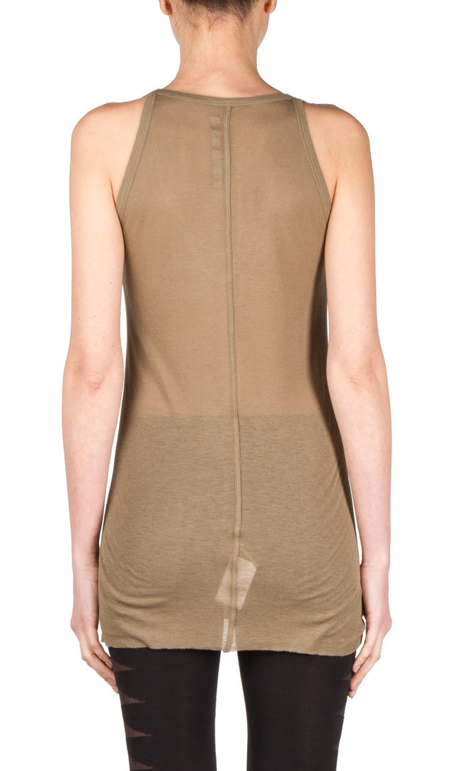 Rick Owens Lilies V-Neck Tank In Dust