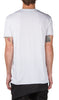 double layer t-shirt in white