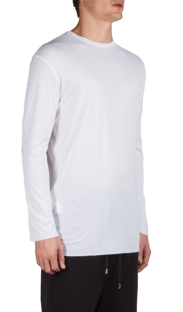 ls doublelayer t-shirt in white