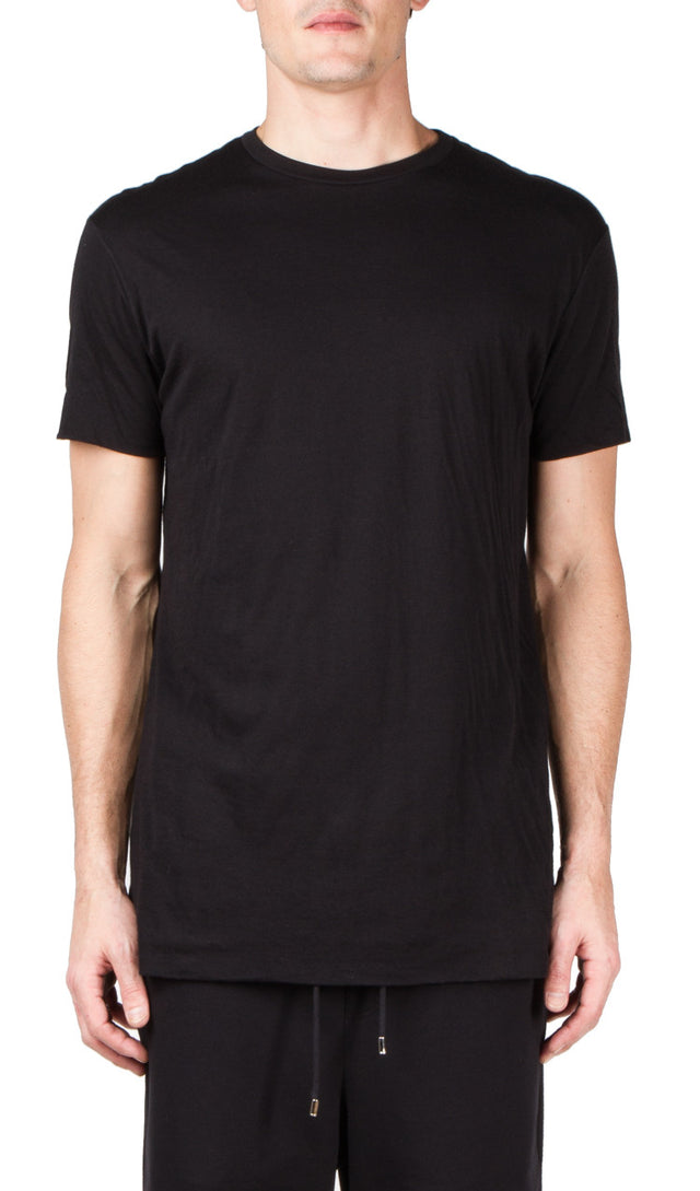 Thamanyah Double Layer T-Shirt In Black